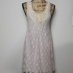 Dating clothing lace dress embellished neck small
